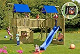 Gartenpirat Spielanlage Freibeuter mit 2x Spielturm Brücke Spielhaus Schiff Rutsche