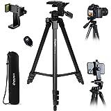 Endurax Camera statief 153 cm/60 inch uitbreidbaar mobiel statief van aluminium draagvermogen 3 kg driepootstatief met 3-weg