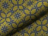 Möbelstoff KARWENDEL 364 Blumenmuster Farbe grün als robuster Bezugsstoff, Polsterstoff grün geblümt zum Nähen und Beziehen, Diolen Safe, Wolle