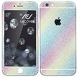 Urcover Glitzer-Folie zum Aufkleben | Apple iPhone 6/6s | Folie in Rainbow | Zubehör Glitzerhülle Handyskin Diamond Funkeln Schutzfolie Handy-schutz Luxus Bling Glamourös