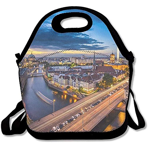Berlin Germany Viewed From Above The Spree River Cute Lunch Tote Lunch Bag Outdoor Picnic Reusable
