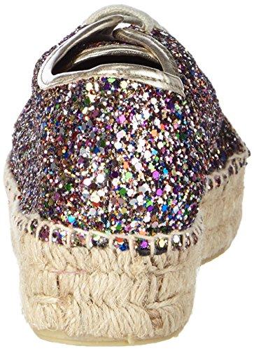 Buffalo 10701-3yu Glitter, Espadrilles femme Multicolore - Mehrfarbig (MULTI 01)