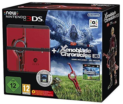 New Nintendo 3DS schwarz inkl. Xenoblade 3D + Zierblende