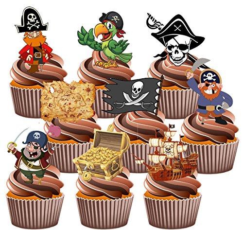arty Pack–essbar Stand-up Cup Cake Topper (36Stück) (Halloween Cupcake Icing-dekorationen)