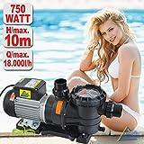 SONDERANGEBOT! Schwimmbadpumpe POOL-STAR-250/370/500/550/800//1100/1200/1600/2000, Poolpumpe - Filterpumpe Schwimmbad / Swimmingpool, energiesparsam zuverlässig und effektiv, leichte Filterreinigung (POOL-STAR 750)