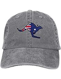 vikkk Sombrero de algodón de Snapback Canguro Bandera Australiana f3114f56290