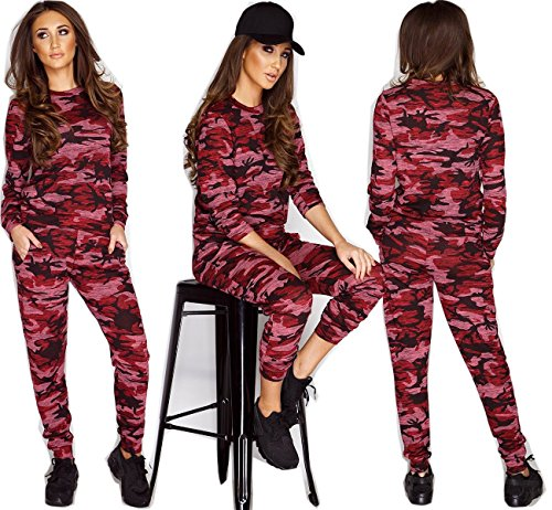 Generic - Robe - Manches Longues - Femme Wine Camouflage