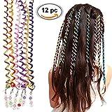 Torsion Haarschmuck, Frauen Mädchen 12 Stück Bunte Haar Torsion Haarschmuck mit Strass Haar Accessoires Mehrfarben