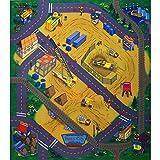 Unbekannt Spielteppich Straßenteppich 70 x 80 cm Construction