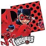 20 Servietten * LADYBUG * für Kindergeburtstag oder Superheldinnen-Mottoparty // Marienkäfer Miraculous Lady Bug Napkins Papierservietten Motto Party