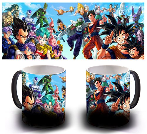 TAZA MAGICA SENSITIVA AL CALOR - ALL DRAGON BALL