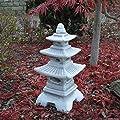 Massive japanische Steinlaterne Pagode aus Steinguss frostfest von gartendekoparadies.de auf Du und dein Garten