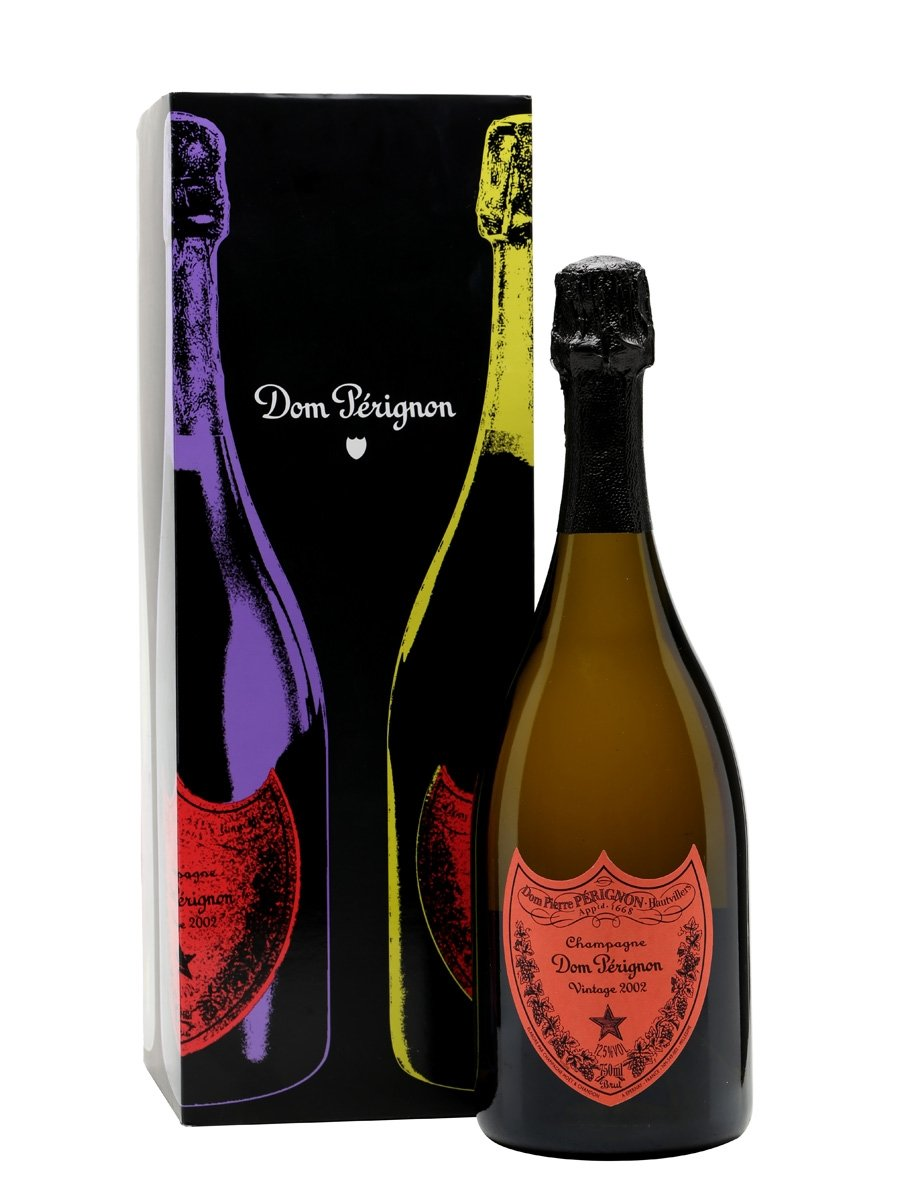 Dom Perignon 2002 Andy Warhol Champagne 75cl – Gift Boxed – RED
