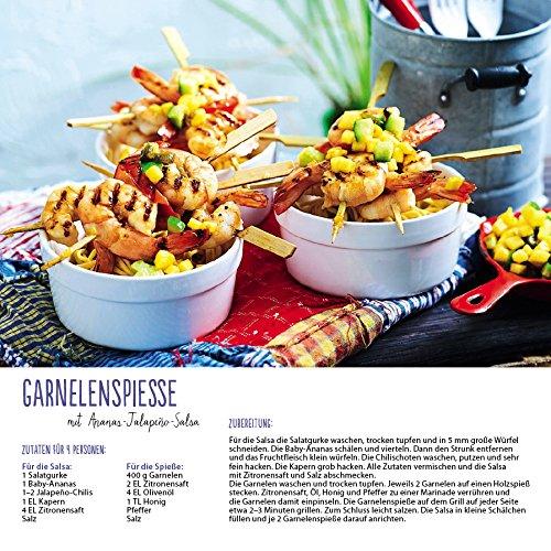 61PclQXOx4L - Genussvoll Grillen (BK) 228119 2019: Broschürenkalender mit Ferienterminen. Jeden Monat ein neues Rezept für dwn Grill. Format: 30 x 30 cm