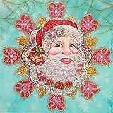 HuaCan DIY 5D Diamant Malerei Nach Anzahl Satz Kristall Unregelmäßig Geformte Strass Spezieller Weihnachtsmann Diamant Stickerei Gemälde Bilder Kunst Handwerk für Hause Wand Dekor 40x40cm