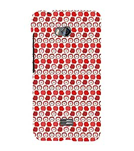 EPICCASE cheeky apple Mobile Back Case Cover For Micromax Q336 (Designer Case)