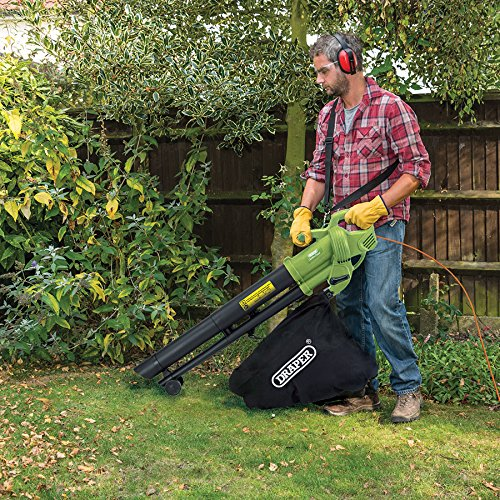 Draper 3000W 3-in-1 Garden Vacuum, Leaf Blower and Mulcher