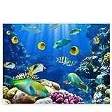 Leinwandbild 100x75 cm PREMIUM Leinwand Bild - Wandbild Kunstdruck Wanddeko Wand Canvas - UNDERWATER WORLD - Aquarium Unterwasser Korallen Meer Fische Riff Korallenrif - no. 033