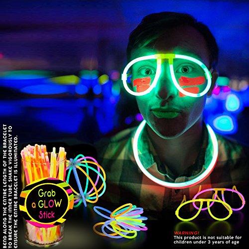 61PcvZqTYKL - 543 Pack, 250 Varitas Luminosas, Glow Sticks, 293 Conectores - Pulseras, Collares, Gafas, Bolas Luminosas, Flores - Seguro y No Tóxico| Niños, Cumpleaños, Fiestas de Neón, Decoracion, Piñatas.