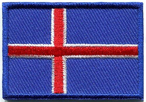 Parche bordado de la bandera de Islandia