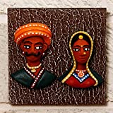 Unravel India Teracotta Tribal Couple Wall Décor