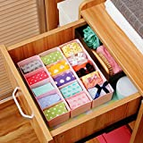 #5: HOME CUBE® 4 Pcs Undergarments Innerwear Drawer Organiser Partition Box (Multicolor)