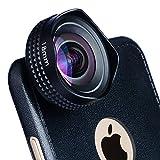 Apexel Evileye Wide Angle HD-Kamera-Objektiv für iPhone 6/6S, Schwarz, for iPhone 6 plus/6s Plus