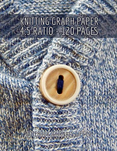 Knitting Graph Paper 4:5 Ratio 120 Pages: Blue Marled Sweater Cover, Knitter's Designing Notebook