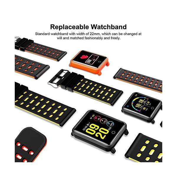 CanMixs Pulsera de Actividad Smartwatch, CM11 Impermeable IP68 Pulsera Inteligente con Podómetro, Monitor de Ritmo… 6