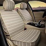 MIAO Fodera per seggiolino auto, quattro stagioni a cinque posti auto universali 3D Coprisedili Sets di lino , compreso il cuscino anteriore * 2 + Cuscino posteriore * 1 , beige