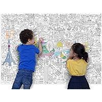 OMY - Poster gigante da colorare, motivo: Parigi