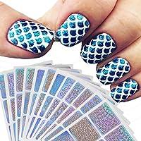 Pegatinas De Uñas Paellaesp 12 Piezas Nail Art Decoración Sticker De Uñas (color aleatorio)