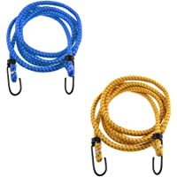 Superior High Strength Stretchable Elastic Rope/Bungee Cord for Hanging Clothes, Tying Behind Bikes (Assorted Colour…