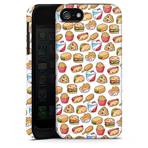 Apple iPhone X Silikon Hülle Case Schutzhülle Hamburger Pommes Pizza Tough Case matt