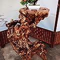 SBS Teakholz - Aus Einem Stück Gefertigt - Massiv - Unikat - Beistelltisch Wurzelholz Sitzhocker Holzklotz Echtholz Teak Natur von SBS auf Gartenmöbel von Du und Dein Garten