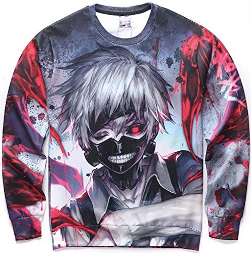 Pizoff Unisex Hip Hop Sweatshirts mit 3D Digital naruto Print 3D Muster Y1627-25-XL
