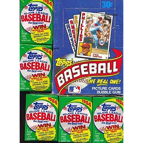 1984 Topps Baseball Cards - Wax Pack ( 15 Cards + Stick of Gum) by Topps