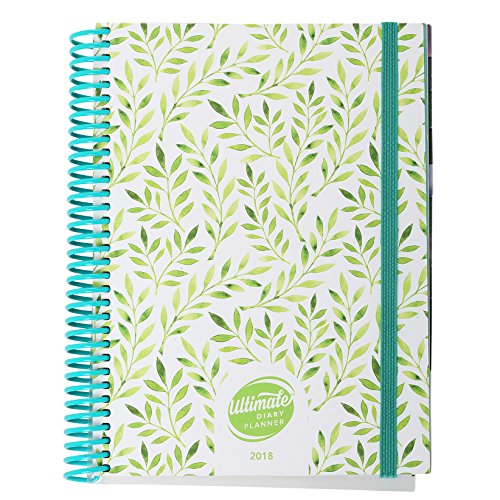 Nature Design A5 Ultimate Diary Planner 2018: Goal setting, year-at-a-glance, to do list management, note pages and more. Designed with women in business in mind (Nature)