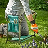 VonHaus 2 in 1 Garden Kneeler & Seat with Tool Bag – Foldable Kneeling Pad/Stool