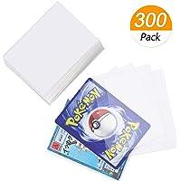 Homgaty Lot de 300 pochettes de protection transparentes pour cartes Pokémon, Magic: The Gathering, Jeux de société, Yu…
