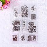 CALISTOUK Transparente kreative Bild Gummi-Stempel, DIY, für Scrapbooking und Dekoration. Beautiful Badge & girls