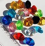 18 Stück 30mm große bunte Deko-Diamanten Brillianten Strasssteine Acryl-Steine bunt transparent klar kristall basteln Gltzersteine Schmuck-Steine Strass-Steine zum Verzieren Dekorieren Streu-Deko Tisch-Deko von CRYSTAL KING