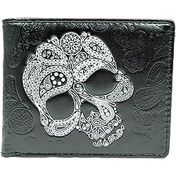 Shagwear - Monederos para mujeres jóvenes: Varios colores y diseños: (cráneo abstracto negro / abstract skull black)