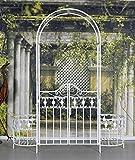 Torbogen Weiss Toscana Gartentür Rosenbogen Pergola Eisentor Gartentor Palazzo Exklusiv