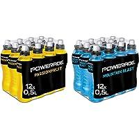 Powerade Sports Passionfruit, Iso Drink mit Elektrolyten, EINWEG Flasche (12 x 500 ml) & Sports Mountain Blast, Iso…