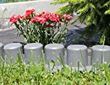 Prosperplast Baumarkt Gartenpalisade Beetumrandung mit Fahrspur, anthrazit 405 cm, grau, 56 x 13 x 24 cm, IPAL7-S443