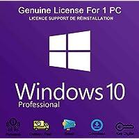 Windows 10 professionnel 32/64 bits | Original Clé de Licence Français Support Réinstallation du Windows | 100% de garantie d'activation | [Téléchargement]