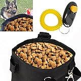 iEFiEL Hundetraining Beutel Futtertasche Futterbeutel Snackbeutel Leckerlietasche Beutel mit Klicker