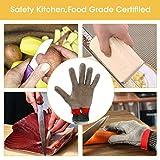 Schnittschutzhandschuhe, GOCHANGE Lebensmittelecht Schnittfeste Handschuhe, Sicherheit aus Edelstahl Metallgewebe Handschuh - 4