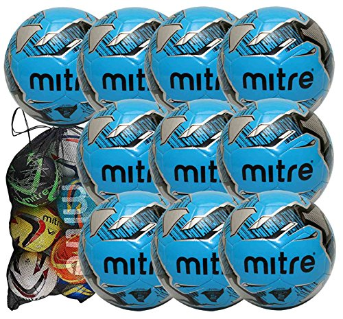 mitre-mission-training-footballs-10-ball-pack-with-mitre-ball-bag-blue-size-5